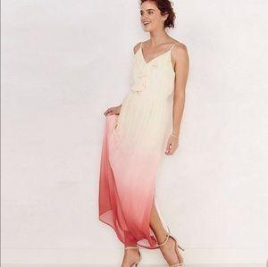 LC by Lauren Conrad Ombre Ruffle Neck Maxi Dress